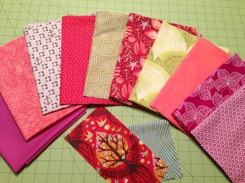 June's Tula Pink Quilt-Along Fabrics